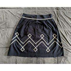 Ann Taylor Loft Pattern Skirt Size 14 100% Cotton